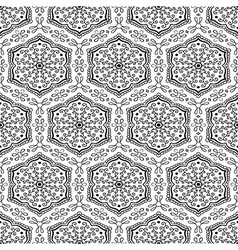Geometrical pattern with floral elements vector image