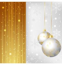 gold silver bals vector image
