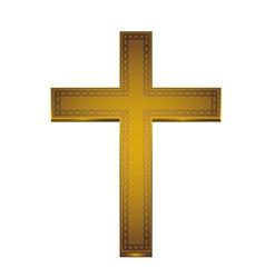 Golden cross vector