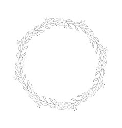 graphic wreath vector image