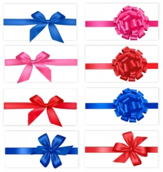 group with color bows vector image