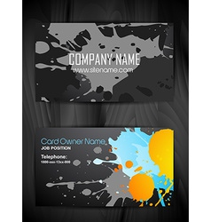 Grunge style business card design vector