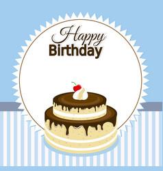 Happy birthday invitation vector