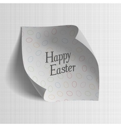 Happy Easter realistic paper greeting Banner vector