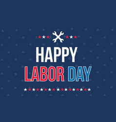 Happy labor day background style vector