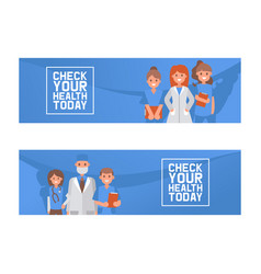 health check up concept vector image