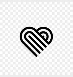 heart logo line art creative icon vector image