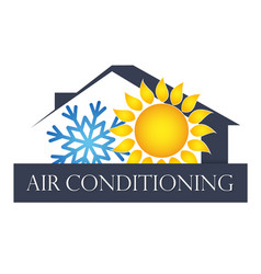 House air conditioning and ventilation symbol vector