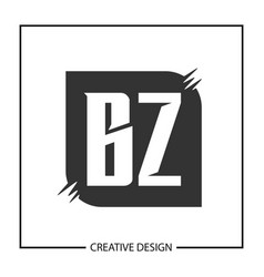 Initial letter bz logo template design vector