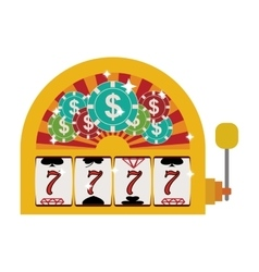 Jackpot machine icon vector
