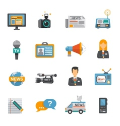 Journalist Icon Flat vector image