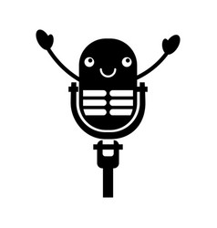 Kawaii microphone sound music equipment vector