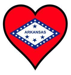 love arkansas vector image