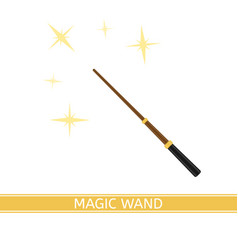 Magic wand isolated vector