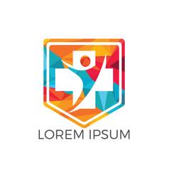 medical logo design vector image