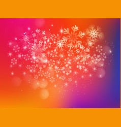 merry christmas background with snow and lights vector image