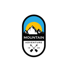 mountain badges logo design vector image