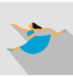 New dance flat symbol vector