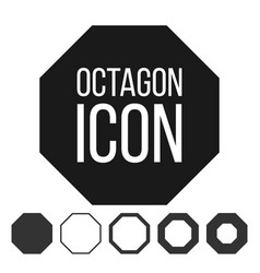 octagon icon 8 eight sided symbol vector image