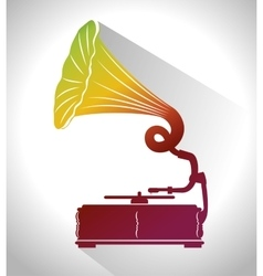 old gramophone isolated icon design vector image
