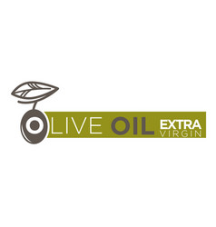 Olive oil extra virgin product label vector
