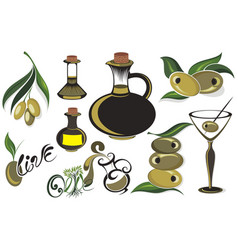 olives set vector image