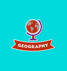 Paper sticker on stylish background geography vector