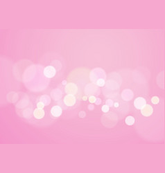 pink bokeh love valentines day background vector image