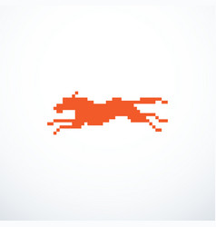pixel running dog vector image