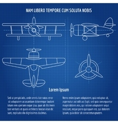 Plane blueprint vector