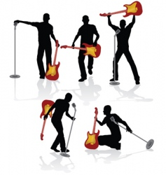 playing guitarist vector image
