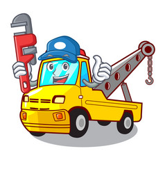 Plumber tow truck for vehicle branding character vector