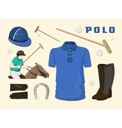 Polo objects Sport uniform vector