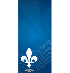 Quebec province canada emblem over abstract vector