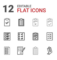 questionnaire icons vector image
