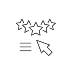 Rating assessment line outline icon vector