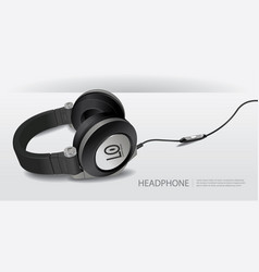 realistic headphones isolated vector image