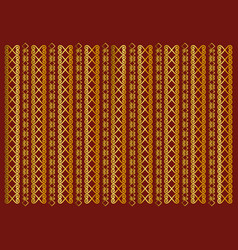 Red background decorated with golden ornament vector