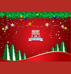 red background for christmas holiday season with vector image