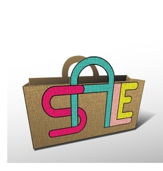 Sale bag for shopping vector