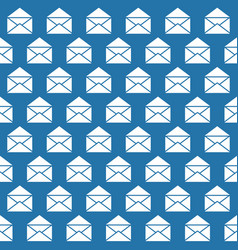 seamless pattern with open mail envelopes vector image