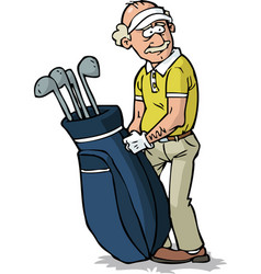 Senior golfer vector