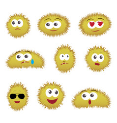 set of cartoon funny emoticons vector image