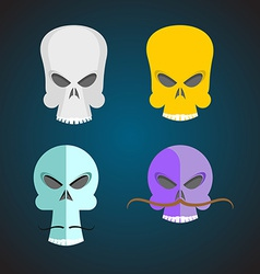 Set Skull Cartoon vector image
