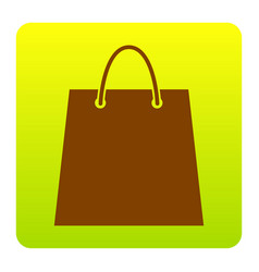 shopping bag brown icon at vector image