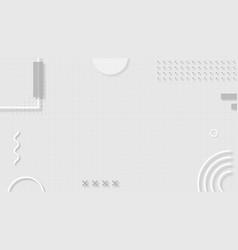 Silver monotone memphis blog banner template vector