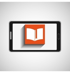 Smartphone technology e-learning icon vector