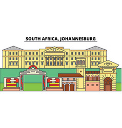South africa johannesburg city skyline vector