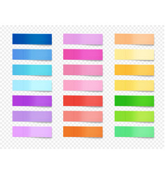 sticky memo notes set vector image