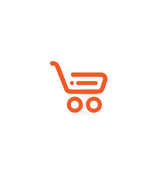 store linear icon shopping basket shop logotype vector image